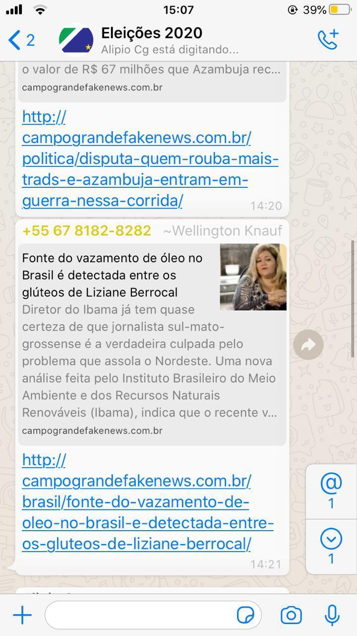 Financiado por deputado do PSL grupo usa layout do CG News para atacar jornalista