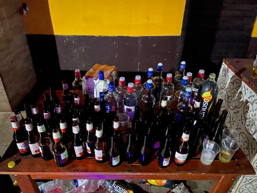 Guarda Municipal, e conselho tutelar encerram festa com mais de 100 jovens.
