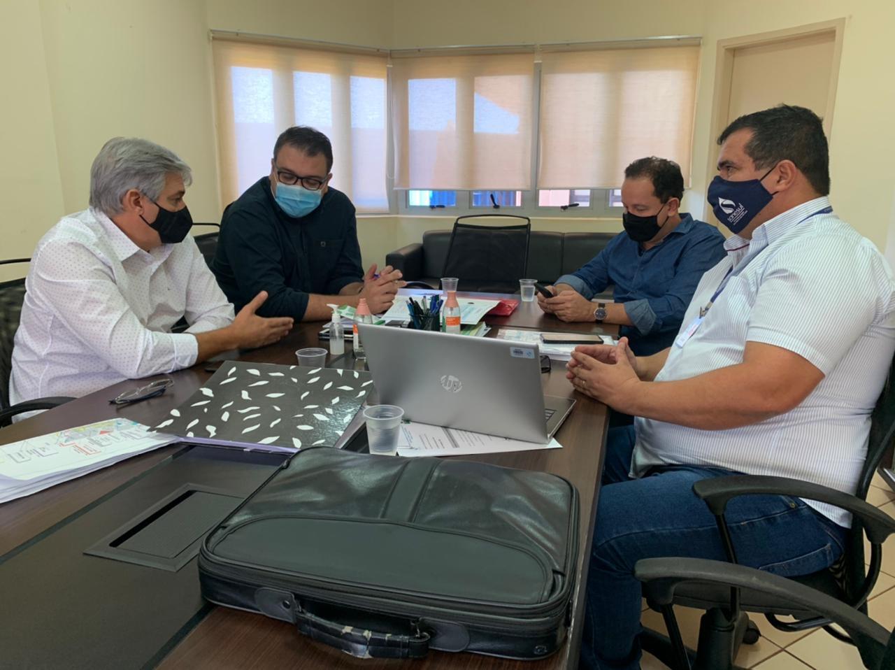 Em reunião com Alan Guedes, Sanesul apresenta plano de investimentos em Dourados