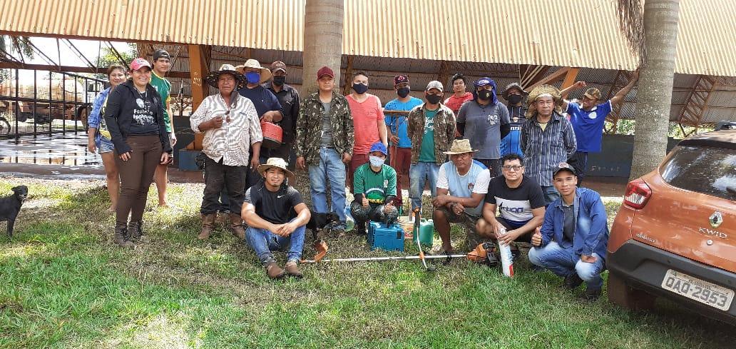 Coordenadoria Indígena realiza mutirão voluntário na vila olímpica da Aldeia Bororó