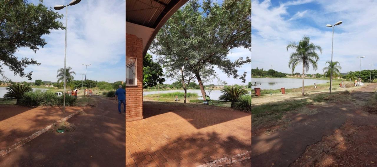 Com liberação dos serviços, força-tarefa retoma limpeza de parques em Dourados